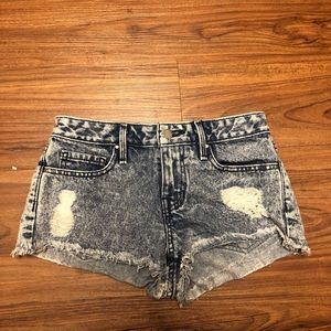 Distressed Low-Rise Shorts